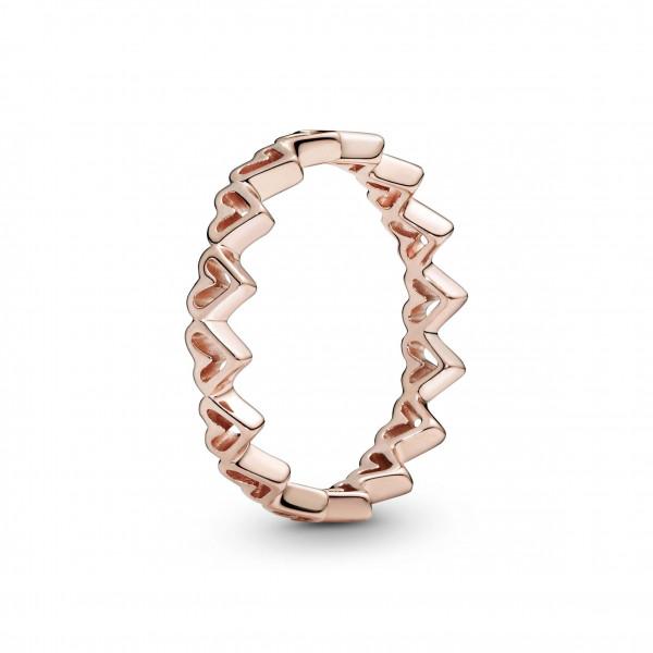 PANDORA Rose Ring Freihand Herzen - 188696C00
