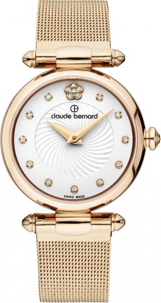 Claude Bernard Dress Code Rose Weiss Mesh Small Quarz Uhr - 20500-37R-APR2