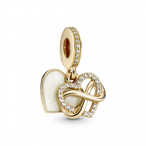 Pandora Gold Charm Funkelndes Unendlichkeits-Herz