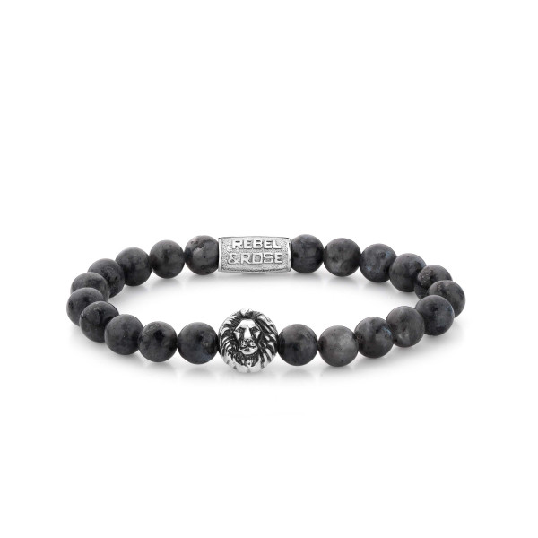 Rebel & Rose Stones Lion Head Grey Seduction