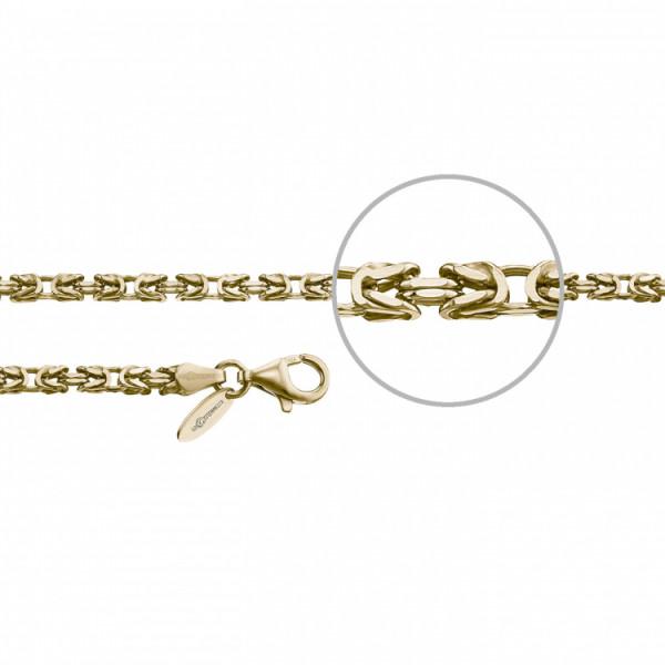 Der Kettenmacher Silberkette Königskette Gold 3,0 mm - Koe1-50G