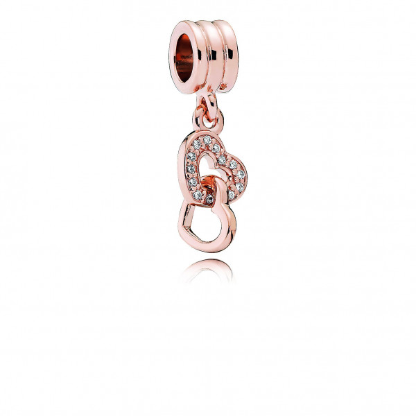 PANDORA Rose Charm-Anhänger Verschlungene Herzen - 781242CZ