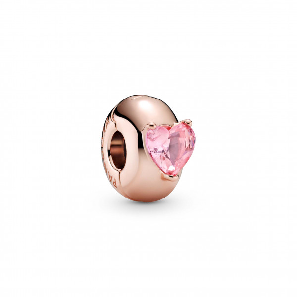 Pandora Rose Fixed Clips Solitaire Rosa - 799203C01