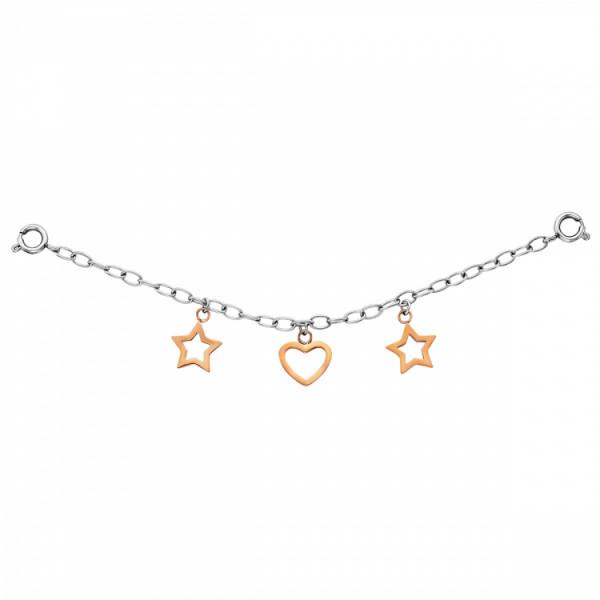 Julie Julsen Charming Sterne-Herz Uhrenkette - JJCG25507-3
