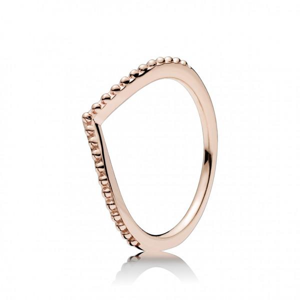 PANDORA Rose Ring Stackable Beaded Wisch - 186315