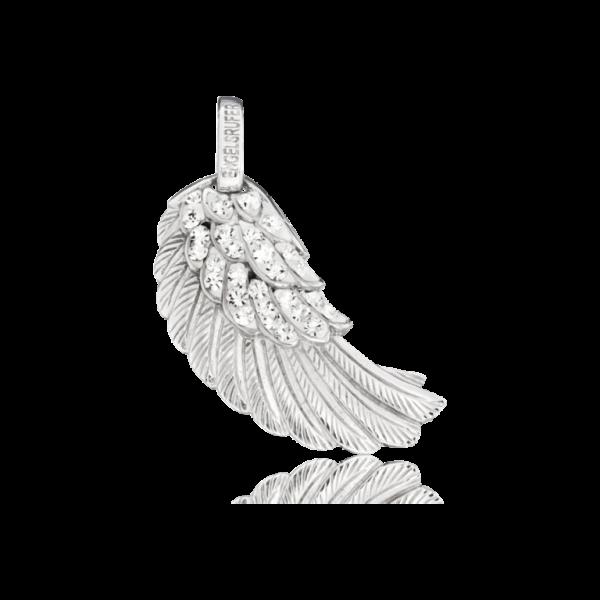 Engelsrufer Flügel Crystal M, Silber mit Steinen - ERW-M-01-ZI