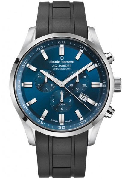 Claude Bernard Aquarider Silber Blau Quarz Chronograph - 10222-3CA-BUIN_1
