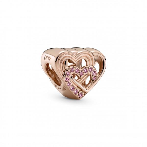 Pandora Rose Charm Verschlungene Liebesherzen 1