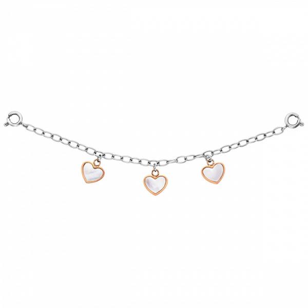 Julie Julsen Charming Uhrenkette Herzen - JJCG25509-3