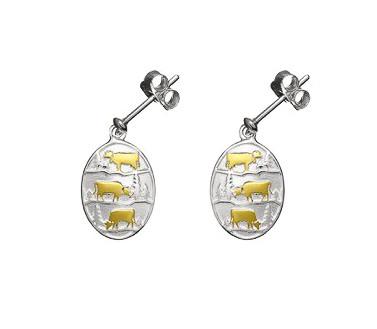 Gexist Ohrringe Poya Kuh Silber Gold - EG9004