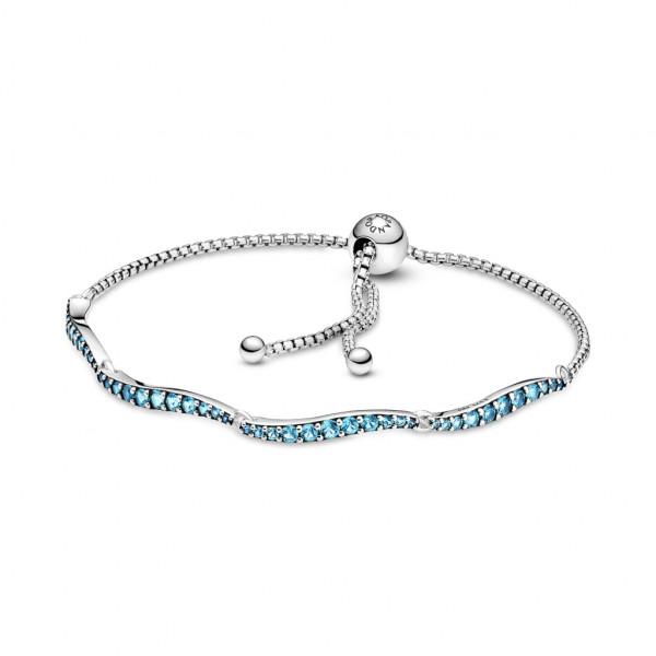 Pandora Blau Gewelltes Slider Armband - 599436C01