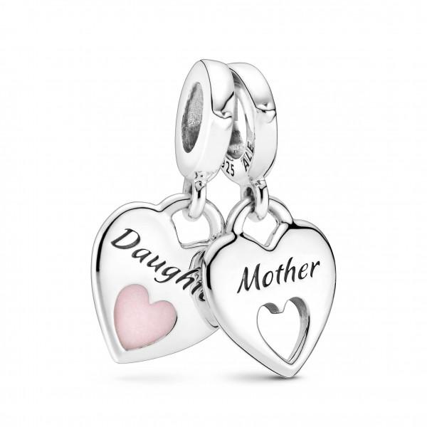 PANDORA Charm Anhänger Mutter & Tochter geteiltes Herz - 799187C01