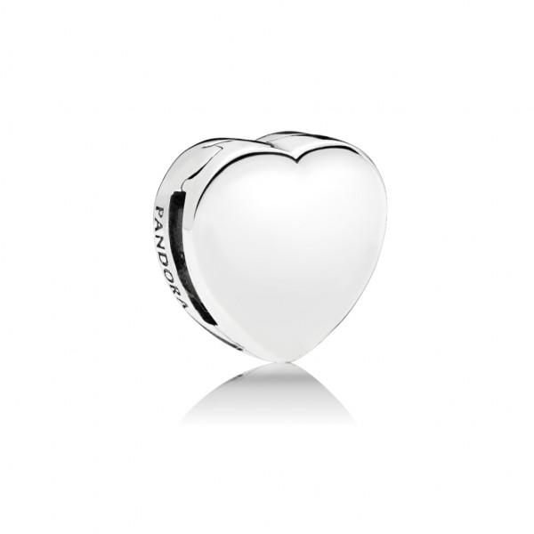 PANDORA Reflexions Fixed Clips Charm Heart - 797620
