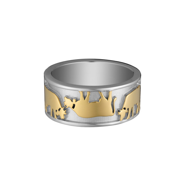 Gexist Swiss Edelweiss Ring Vice Versa Bicolor - RG-9031
