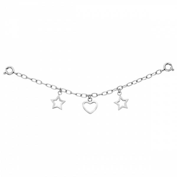 Julie Julsen Charming Sterne-Herz Uhrenkette - JJCG25507-1