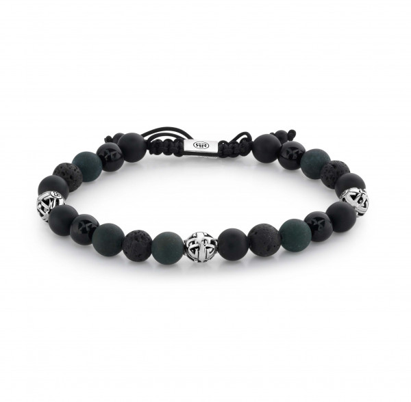 Rebel & Rose Armband Stones and Silver Mix Black