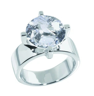 Swiss Rocks Bergkristall Ring Griffe - SR-106