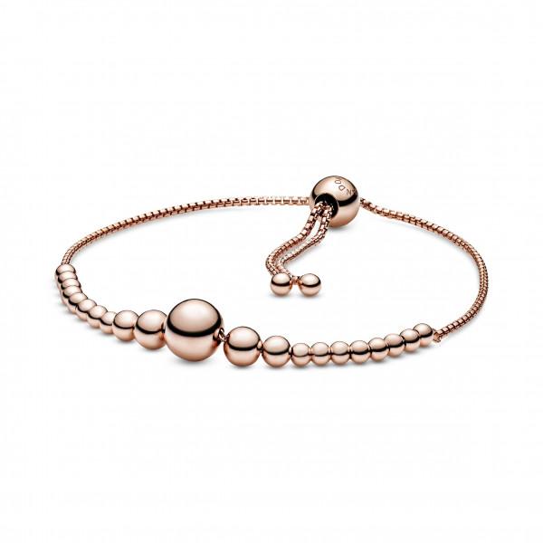 PANDORA Armband Metallperlen-Schnur Schiebearmband - 587749
