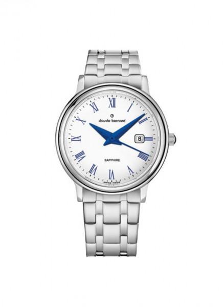 Claude Bernard Schweizer Quarz Uhr Classic Gents Ladies Silber Stahl small - 54005-3M-ARBUN