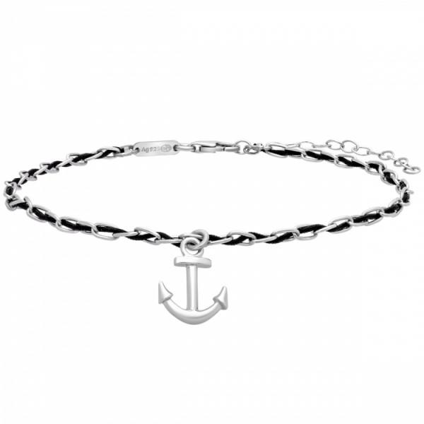Julie Julsen Fusskette Spirit Anklet Black Anchor - JJACR0722.1.10