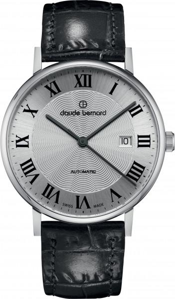 Claude Bernard Classic Automatic Slim Line Silber - 80102-3-AR