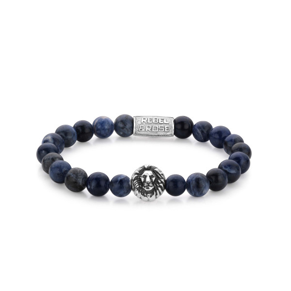 Rebel & Rose Stones Lion Head Midnight Blue