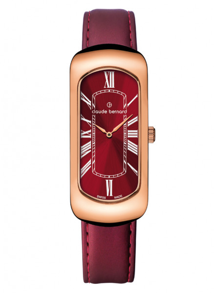 Claude Bernard Damenuhr Dress Code Small Rosé Red - 20227-37R-ROUR