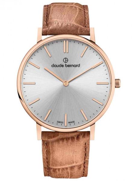 Claude Bernard Quarz Uhr Slim Line Two Hands Rosé - 20219-37RC-AIR